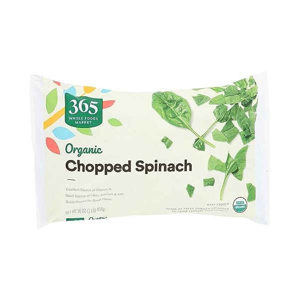 Organic Chopped Spinach, 16 oz 1
