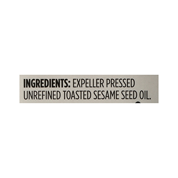 Toasted Sesame Seed Oil, 8.4 fl oz 8