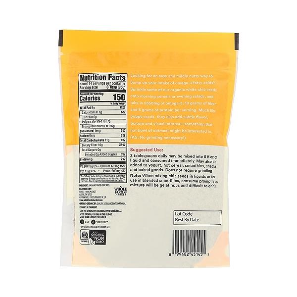 Organic White Chia Seed, 15 oz 4
