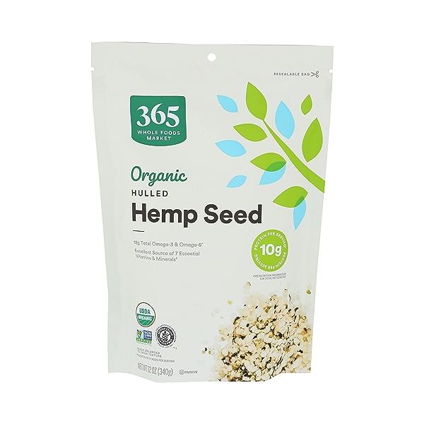 Organic Hulled Hemp Seed, 12 oz 1