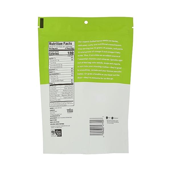 Organic Hulled Hemp Seed, 12 oz 4