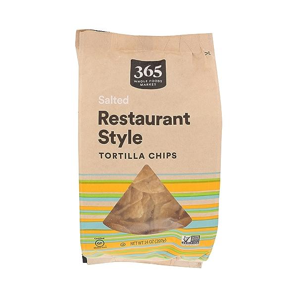 Salted Restaurant Style Tortilla Chips, 14 oz 1