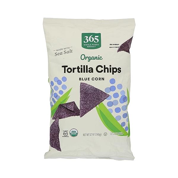 Organic Blue Corn Tortilla Chips, 12 oz 1