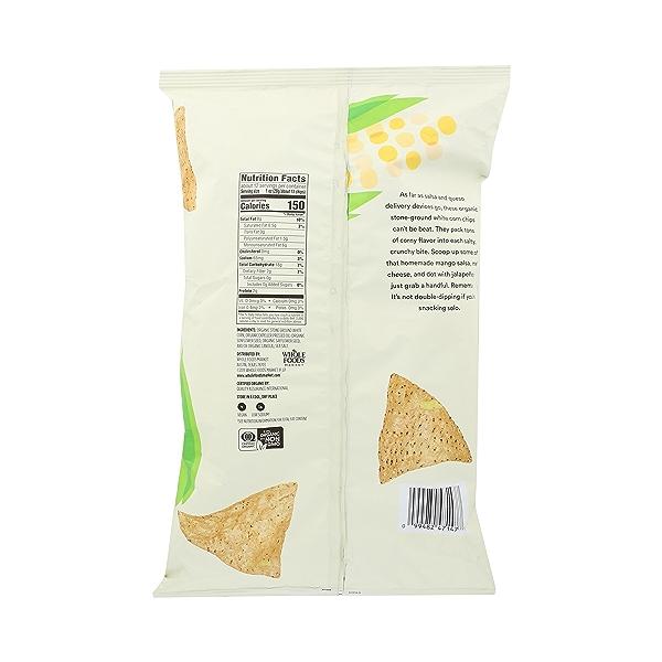 Organic Salted White Corn Tortilla Chips, 12 oz 2