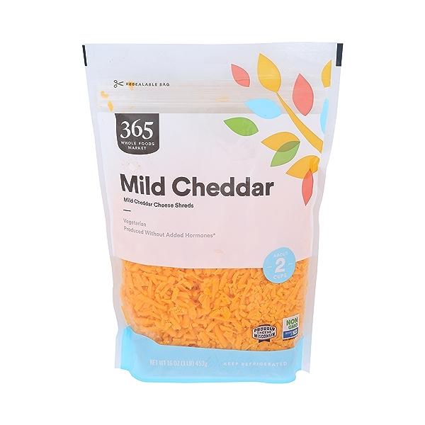 Shredded Mild Cheddar Cheese, 16 oz 1
