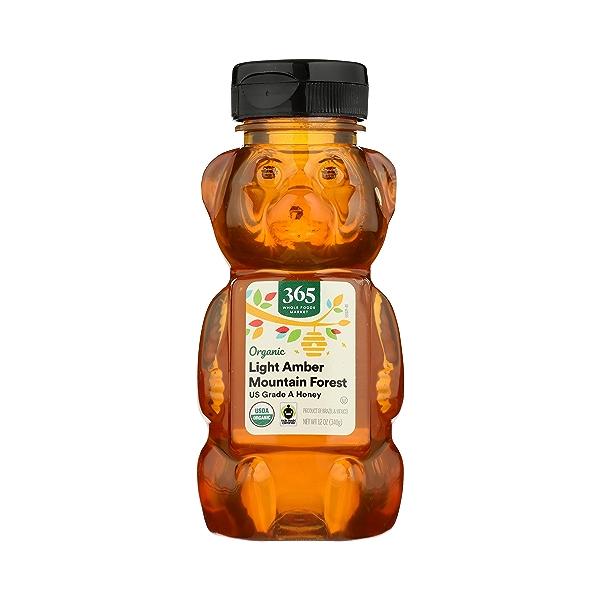 Organic Light Amber Mountain Forest Honey, 12 oz 1