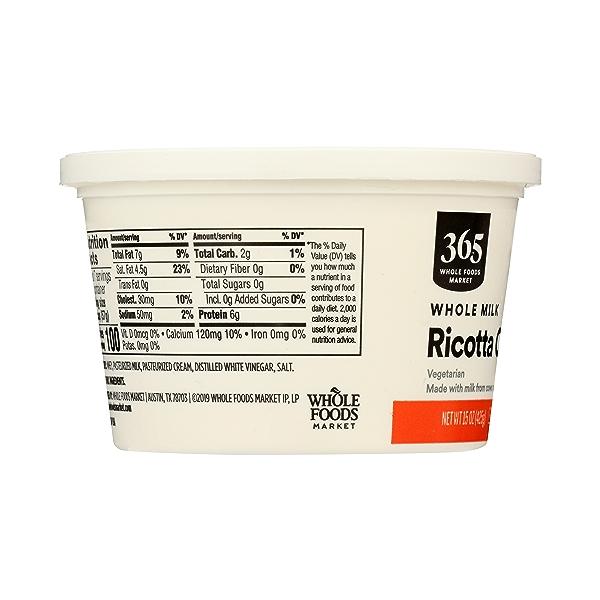 Whole Milk Ricotta Cheese, 15 oz 4