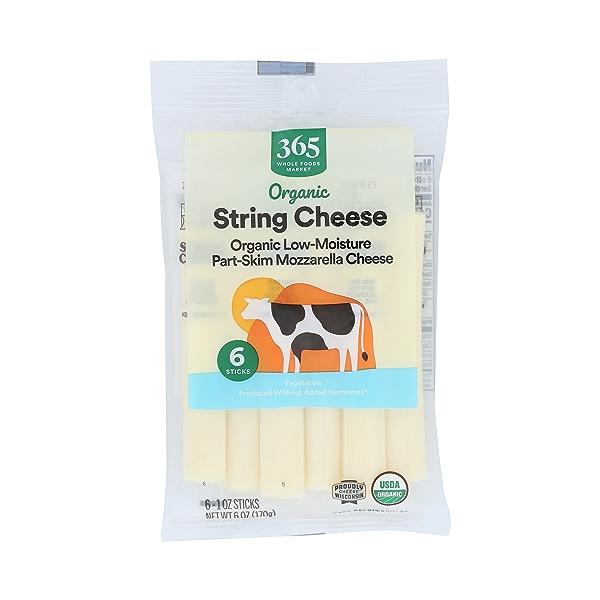 Organic String Cheese 6ct, 1 each 1