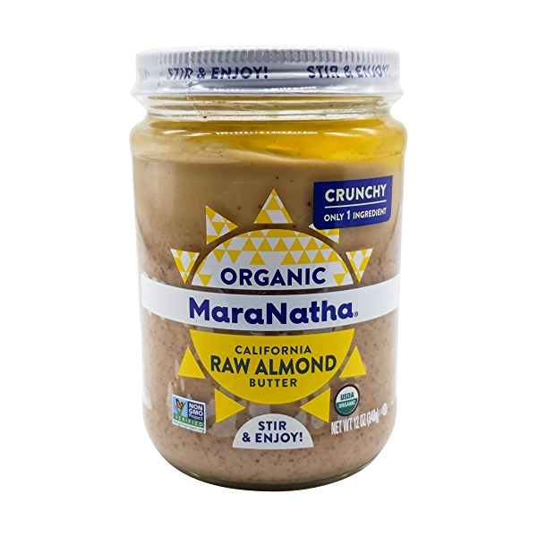 Organic Crunchy Raw Almond Butter, 12 oz 1