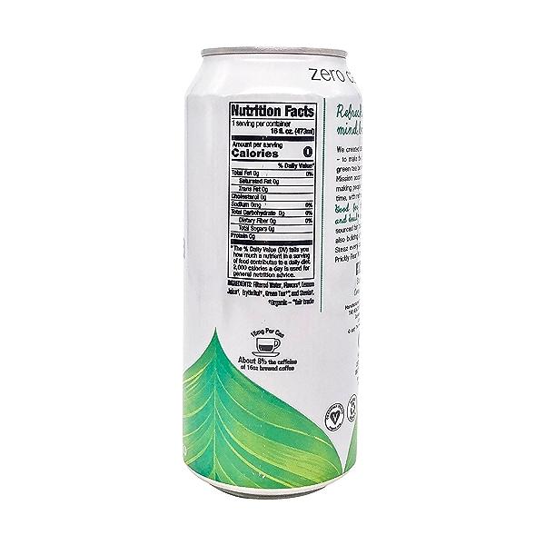 Peach Mango Iced Green Tea, 16 fl oz 2