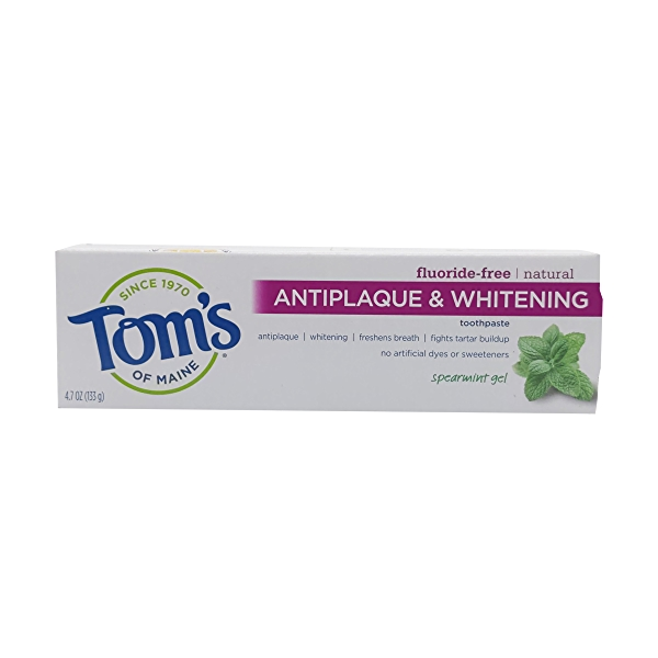 Spearmint Anti Plaque Gel Toothpaste, 4.7 oz 4
