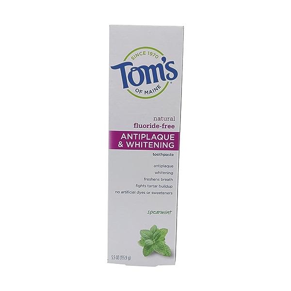 Antiplaque Whitening Spearmint Toothpaste, 5.5 oz 1