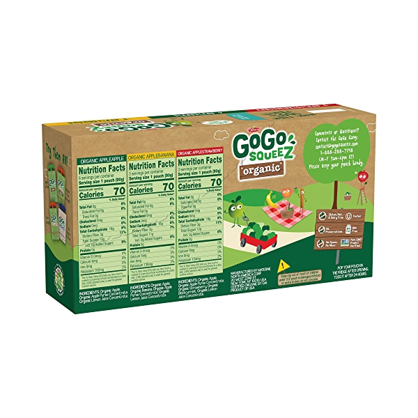 Organic Variety Pack 12pk, 38.4 oz 2