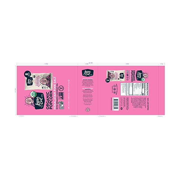 Organic Popcorn, Snack Pack Himalayan Pink, 3.68 oz 2