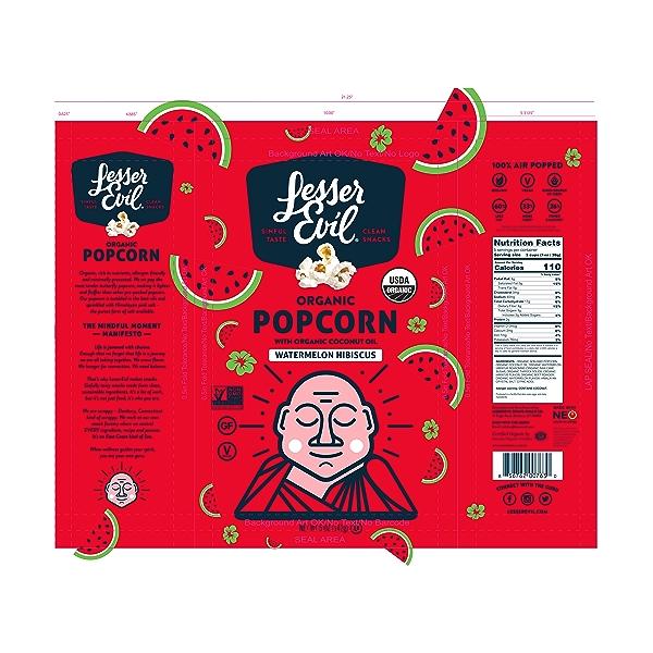 Organic Popcorn, Summer Exclusive Watermelon Hibiscus, 5 oz 2