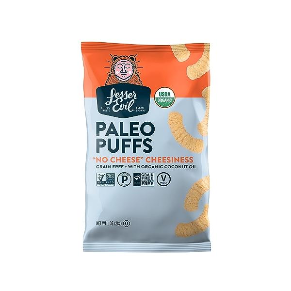 Paleo Puffs, No Cheese Cheesiness, 1 oz 1