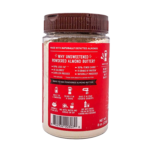 Unsweetened Powdered Almond Butter, 8 oz 4