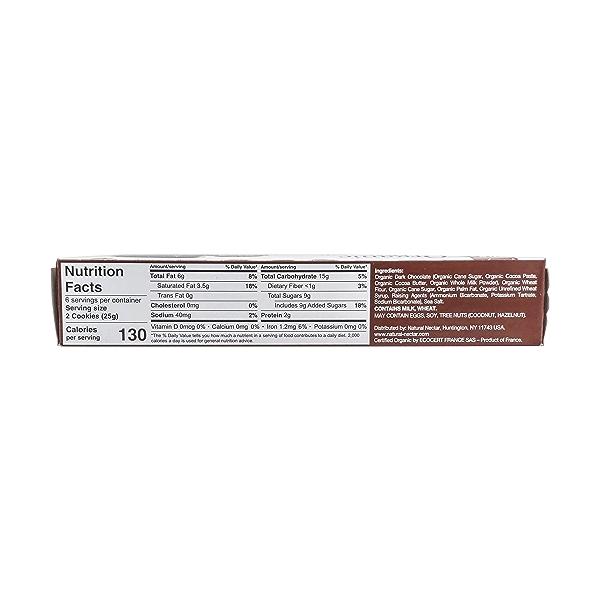Organic Dark Chocolate Biscuit, 5.29 oz 2