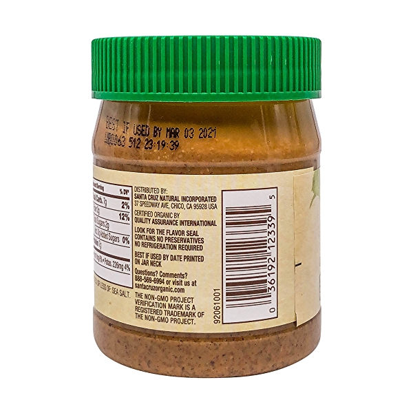 Organic Creamy Dark Roasted Almond Butter, 12 oz 3