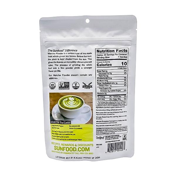 Organic Matcha Powder, 4 oz 2