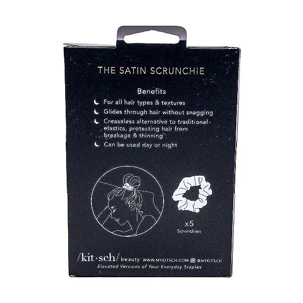 Scrunchies Sleep Satin Black 5pc 2