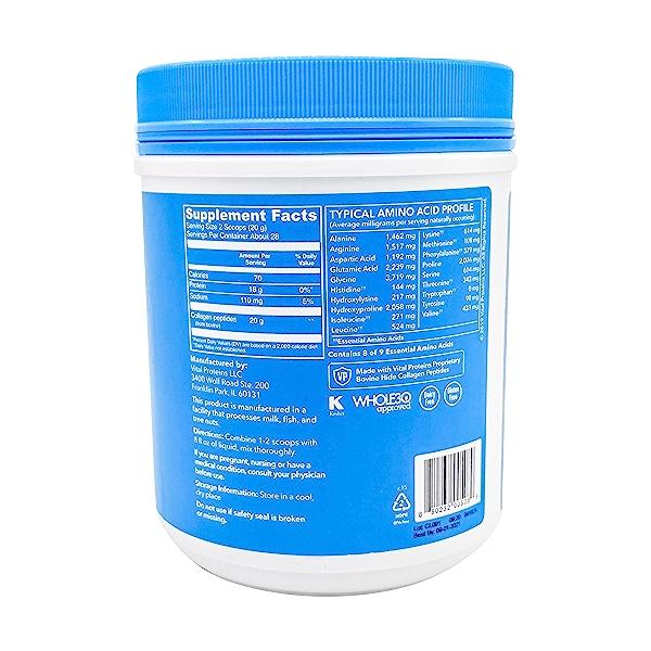 Unflavored Collagen Peptides, 20 oz 2