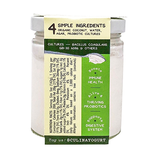 Coconut Yogurt Plain and Simple, 5 oz 2