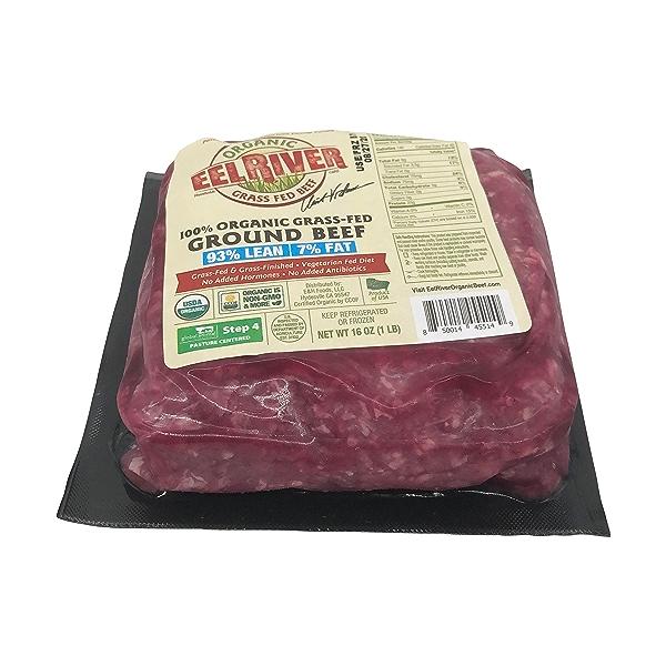 Organic Grass-fed Ground Beef 93/7 3