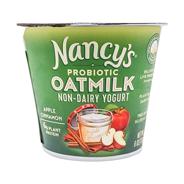 Apple Cinnamon Probiotic Oat Milk Yogurt, 6 oz 1