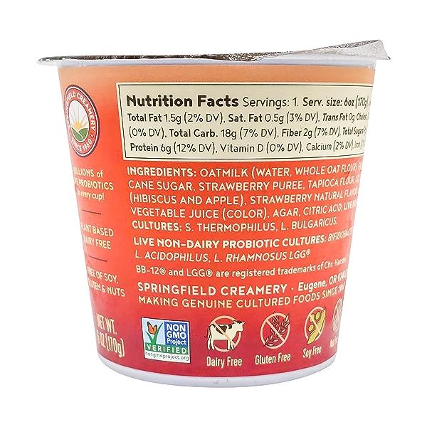 Strawberry Hibiscus Oatmilk Yogurt, 6 oz 2
