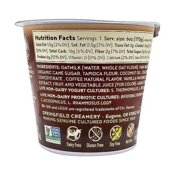 Non Dairy Oatmilk Cold Brew Coffee Yogurt With Vanilla, 6 oz 2