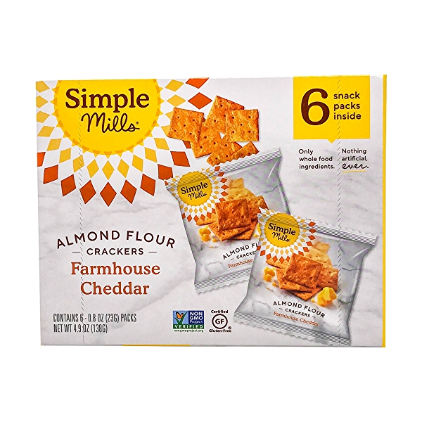 Farmhouse Cheddar Almond Flour Crackers Snack Pack (6pk), 4.9 oz 3