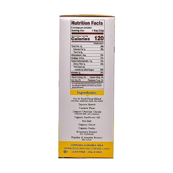 Farmhouse Cheddar Almond Flour Crackers Snack Pack (6pk), 4.9 oz 2