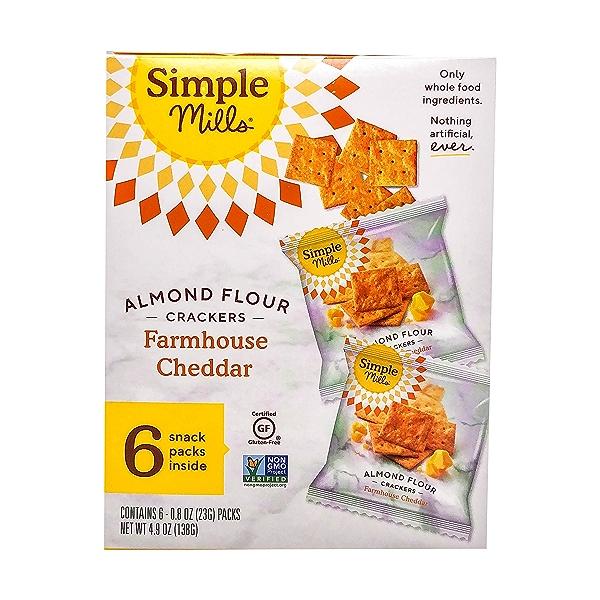 Farmhouse Cheddar Almond Flour Crackers Snack Pack (6pk), 4.9 oz 1
