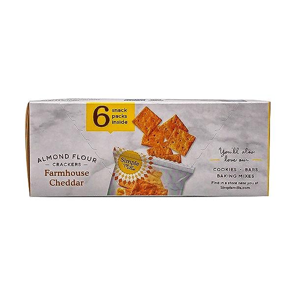 Farmhouse Cheddar Almond Flour Crackers Snack Pack (6pk), 4.9 oz 4