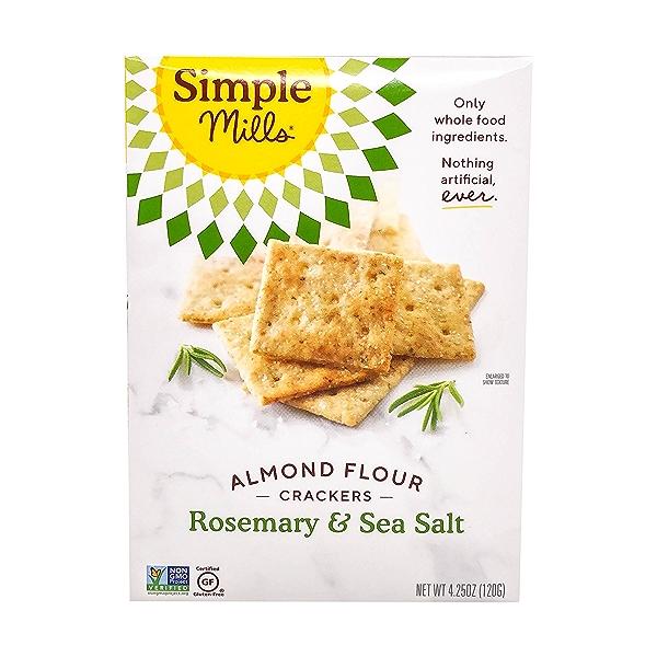 Rosemary & Sea Salt Almond Flour Crackers, 4.25 oz 1