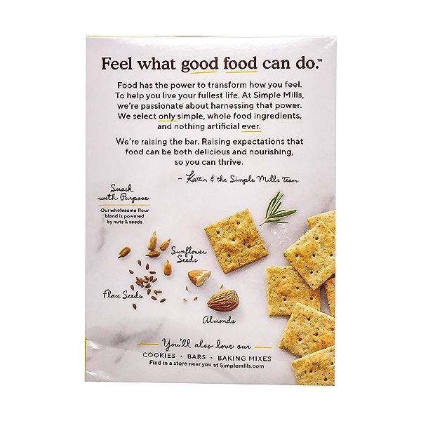 Rosemary & Sea Salt Almond Flour Crackers, 4.25 oz 3