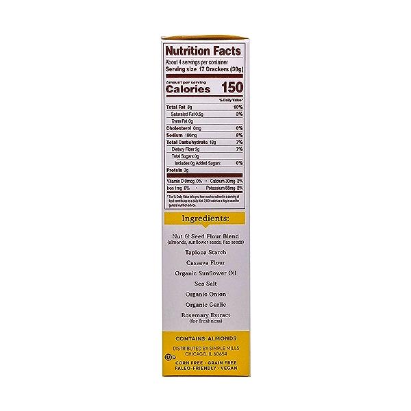 Fine Ground Sea Salt Almond Flour Crackers, 4.25 oz 2