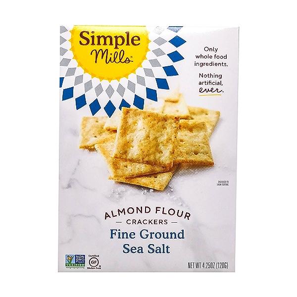 Fine Ground Sea Salt Almond Flour Crackers, 4.25 oz 1