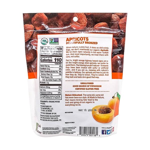 Organic Apricots Dried Fruit, 6 oz 2