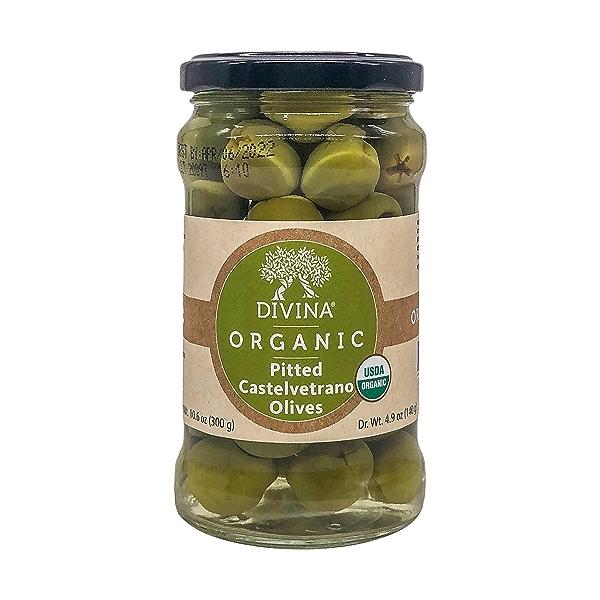 Organic Castelvetrano Pitted Olives, 10.6 oz 1