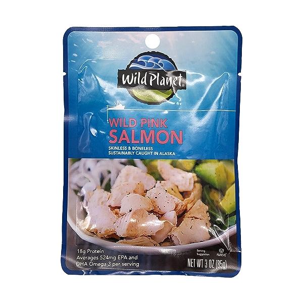 Wild Pink Salmon, 3 oz 1