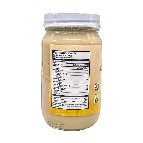 Organic Raw Tahini, 16 oz 2