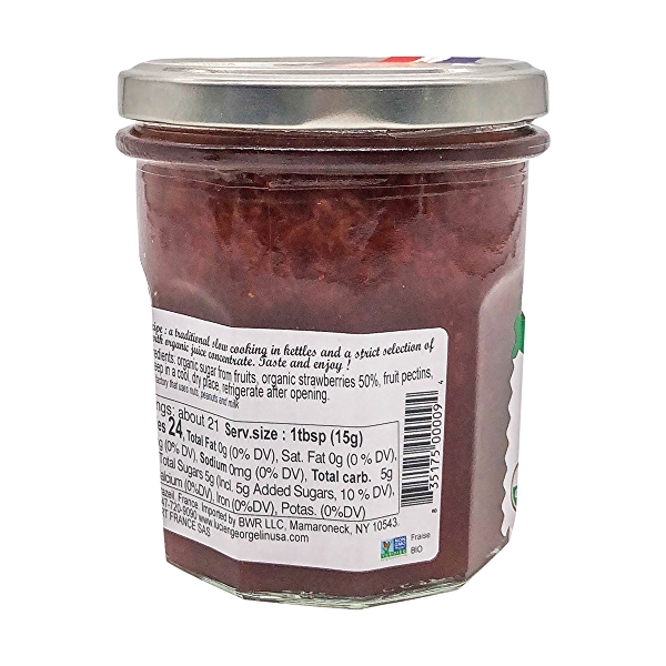 Organic Strawberry Fruit Spread, 11.28 oz 3