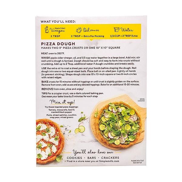 Pizza Dough Almond Flour Mix, 9.8 oz 3