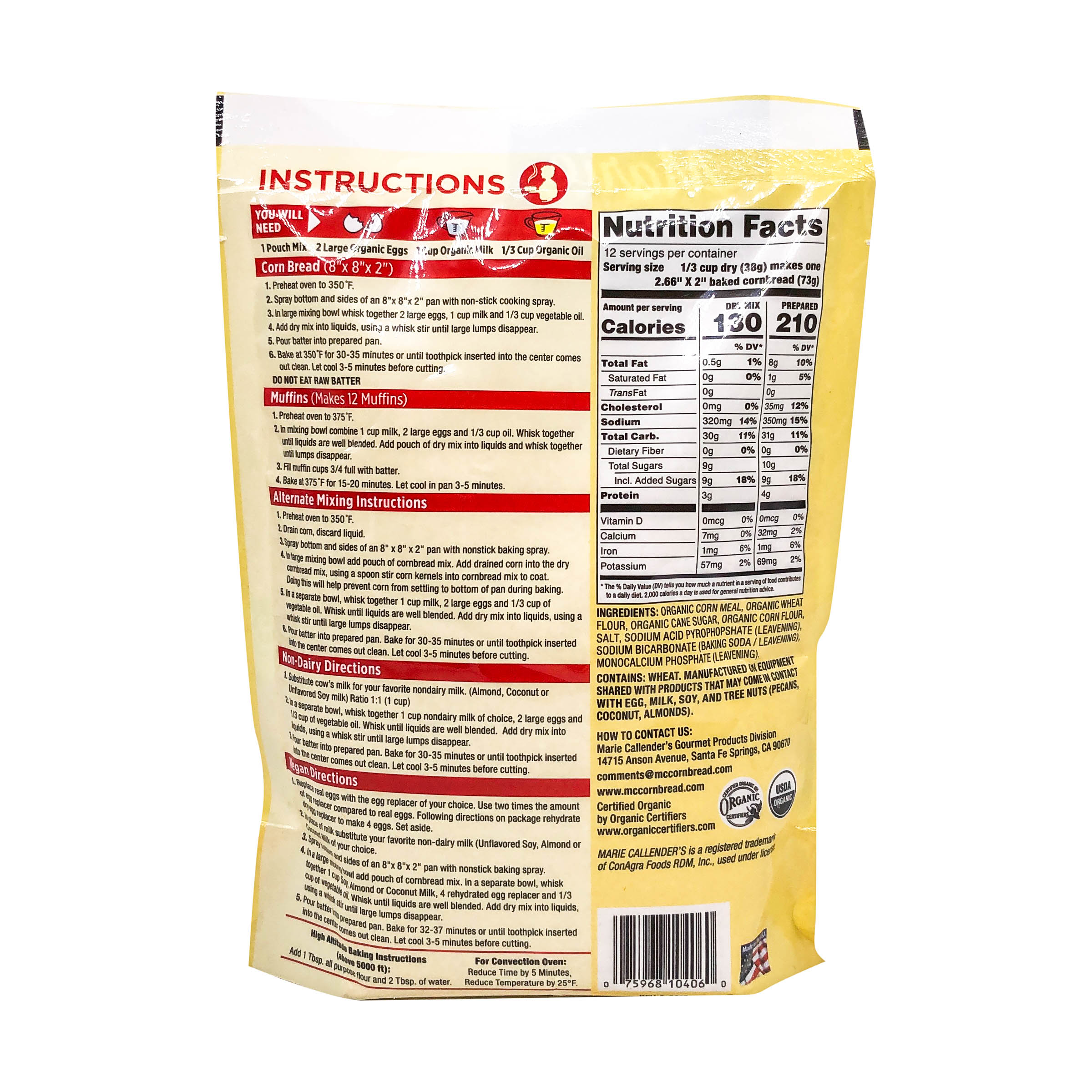 Organic Corn Bread Mix At Whole Foods Market