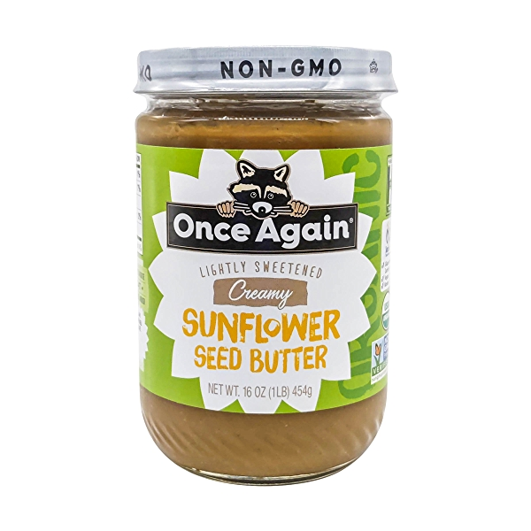 Once Again Organic Lightly Sweetened Sunflower Butter, 16 oz 1