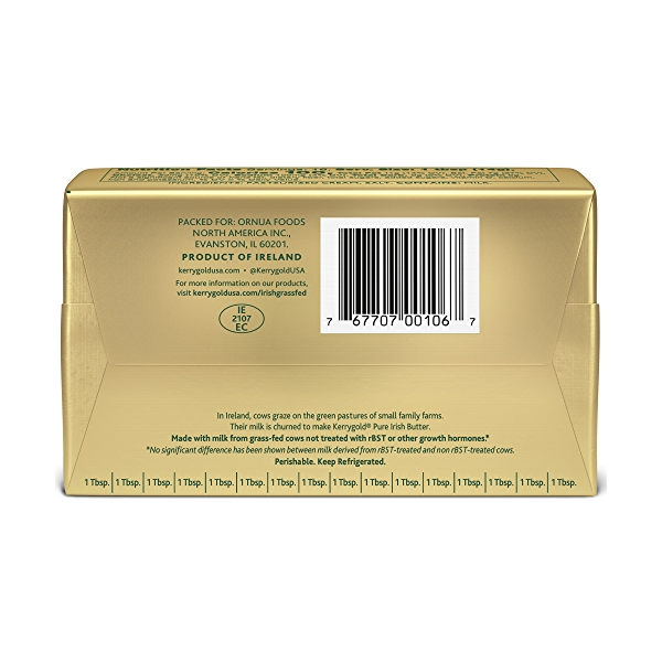 Grass-Fed Pure Irish Salted Butter Foil, 8 oz. 2