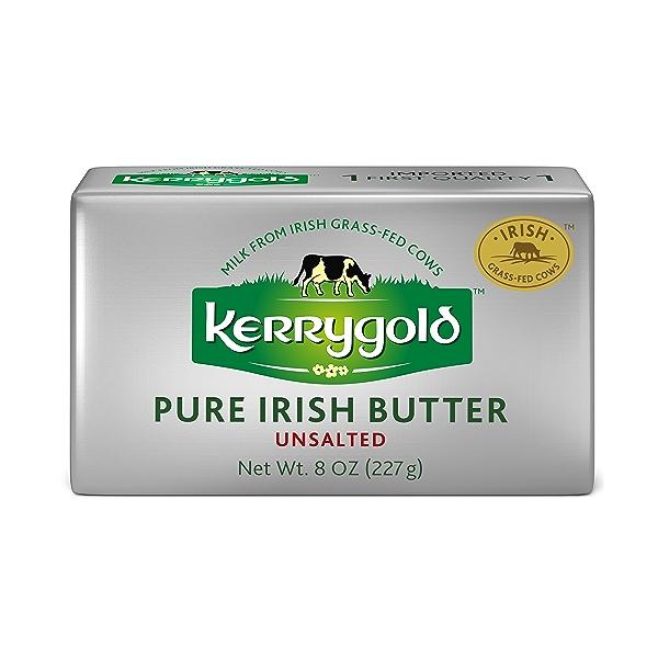 Grass-Fed Pure Irish Unsalted Butter Foil, 8 Oz. 1
