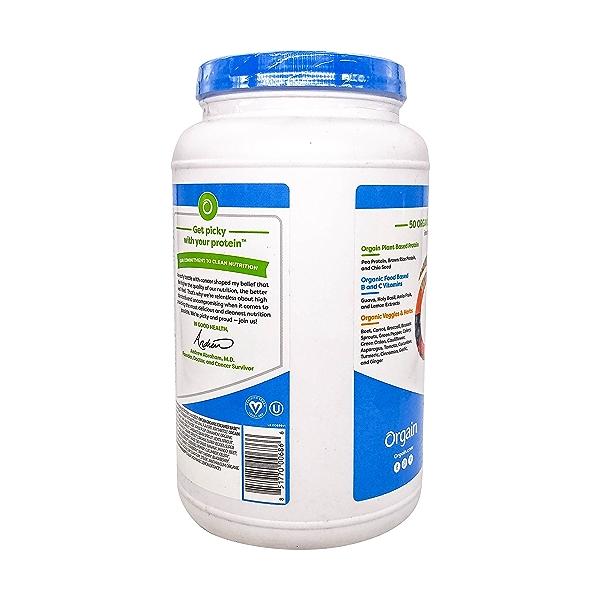 Organic Protein™ + Superfoods Powder - Plant Based Creamy Chocolate Fudge, 2.02 lbs 3